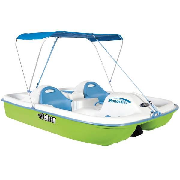 Pelican  Monaco Deluxe Pedal Boat, Green/White/Blue