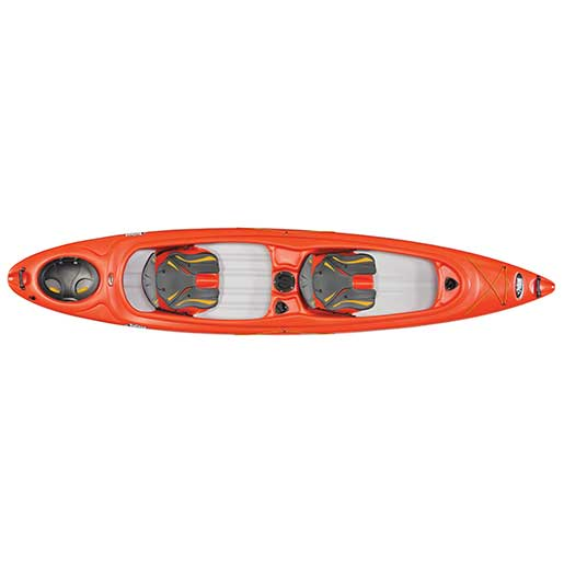 Pelican Unison 136T Sit-Inside Tandem Kayak, Red/White
