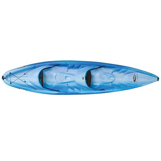 Pelican Apex 130T Sit-On-Top Tandem Kayak, Blue/White