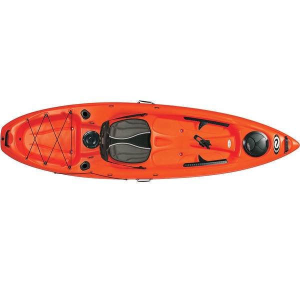 ELIE Coast 100 XE Sit-On-Top Angler Kayak, Red/White