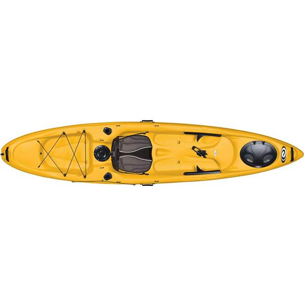ELIE Coast 120 XE Sit-On-Top Angler Kayak, Red/White