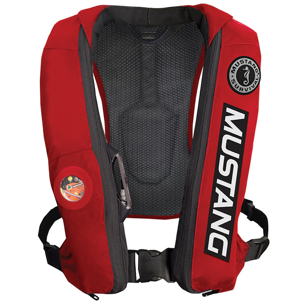 Mustang Survival Elite Life Vest with Automatic Inflation, Red Sale $259.99 SKU: 16124547 ID# MD5183-BC-RED UPC# 62533128729 :
