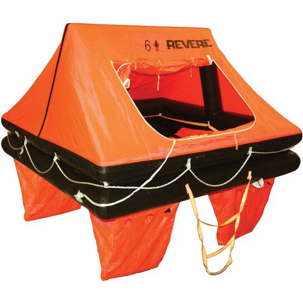 Revere Supply Offshore Commander 2.0 Life Raft with Canister, 6-Person