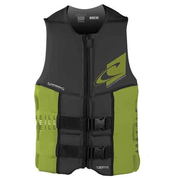 O'neill Assault USCG Vest, Charcoal/Hi-Visibility Green, Large Sale $99.99 SKU: 16206799 ID# 4498-AU1-L UPC# 603731302810 :