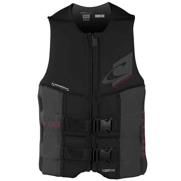 O'neill Assault USCG Vest, Black/Charcoal, Small Sale $99.99 SKU: 16206930 ID# 4498-B82-S UPC# 603731302933 :