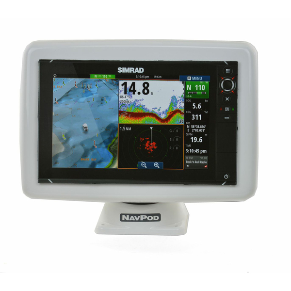 Navpod PowerPod Pre-Cut for Simrad NSS12 evo² / B&G Zeus² 12