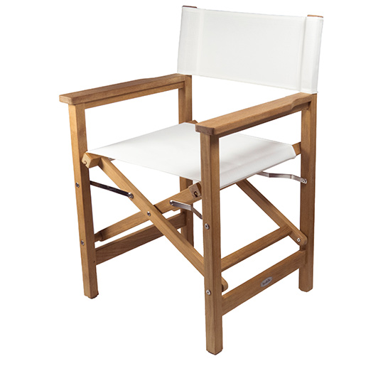 Seateak Teak Directors Chair, White Sale $209.99 SKU: 16225369 ID# 60067-WHT UPC# 814154015502 :