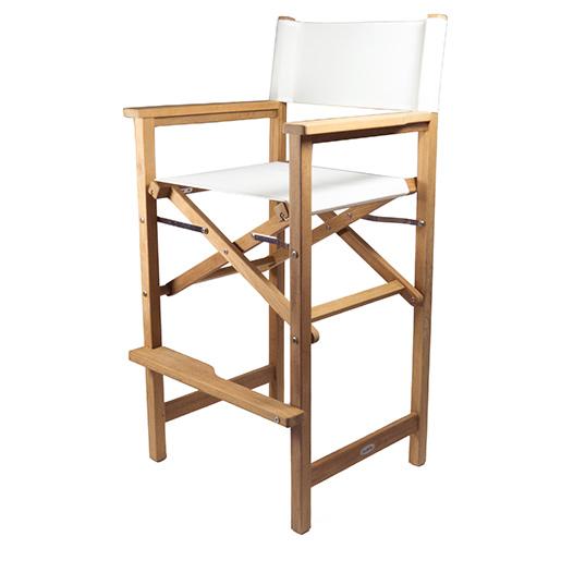 Seateak Teak Captains Chair, White