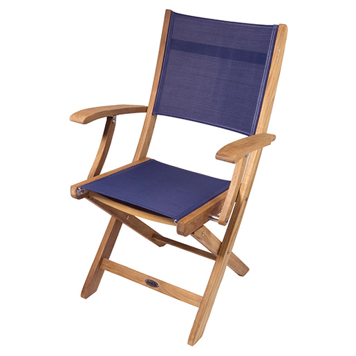 Seateak Teak Bimini Folding Deck Armchair West Marine