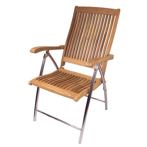 SEATEAK Teak Windrift Folding 6 Position Deck Chair