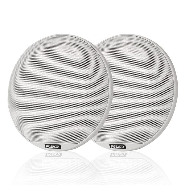 Fusion Classic Marine Coaxial Speakers, White, 6.5