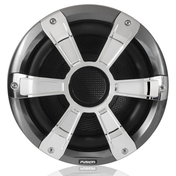 Fusion Signature Series Marine Speaker with Subwoofer, Chrome, 10in, LED