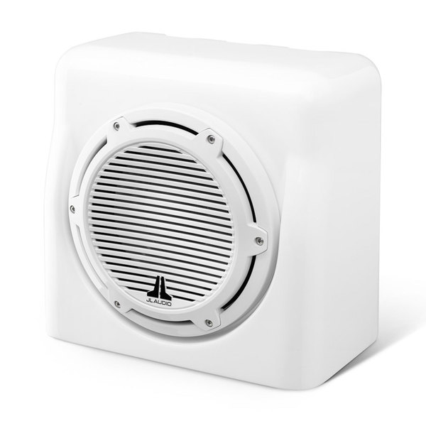 Jl Audio M10W5 Subwoofer with Fiberglass Speaker Box, White, 4 O