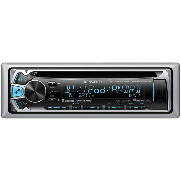 Kenwood KMR-D362BT Marine CD Receiver with Bluetooth