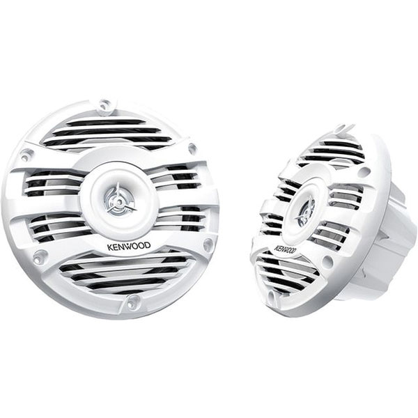 Kenwood 6 1/2 2-Way Marine Speakers—White