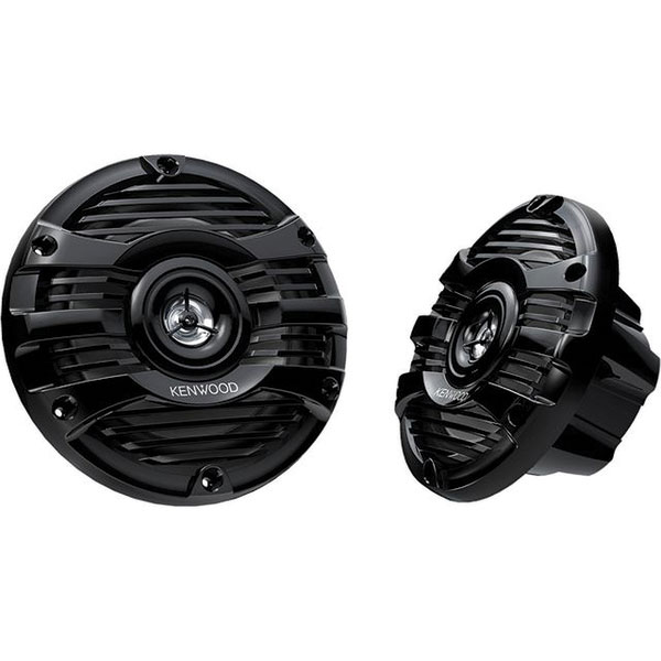 Kenwood 6 1/2 2-Way Marine Speakers—Black