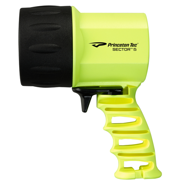 Princeton Tec Sector 5 Handheld LED Spotlight, Neon Yellow