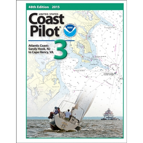 Oceangrafix Chart Coast Pilot 3 Atlantic Coast:Sandy Hook, NJ, Va