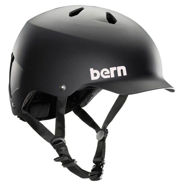 BERN Men's Watts EPS Bike Helmet, Black, L/XL
