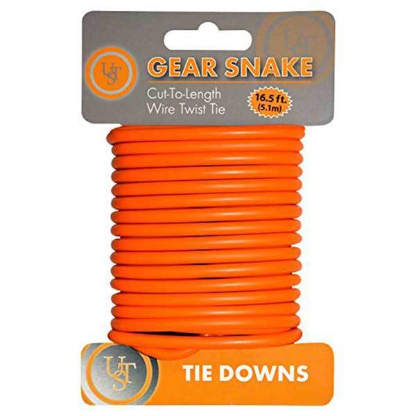Revere Supply Gear Snake 16' Wire Twist Tie, Orange