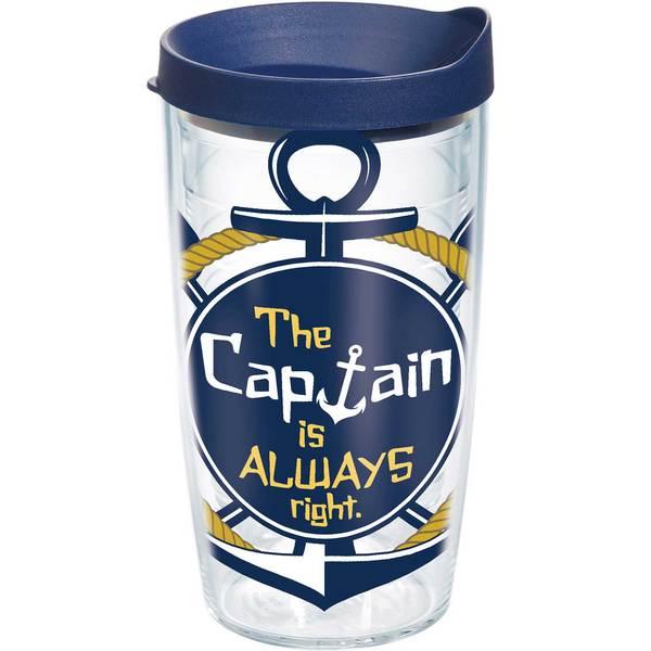 Tervis Captain is Always Right Tumbler, 16oz.