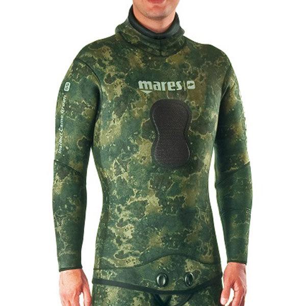 Mares Instinct Wetsuit Jacket Camo Green, 7mm, Size 3