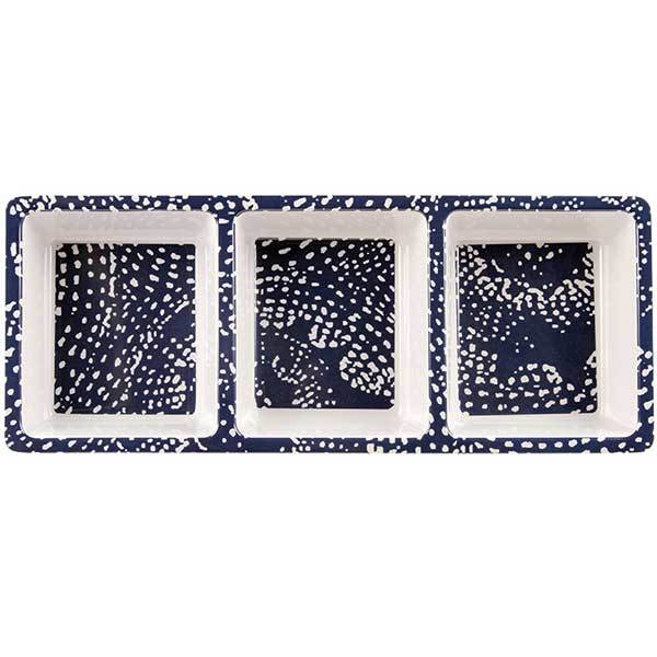 Knack3 3-Section Dotted Shells Serving Tray