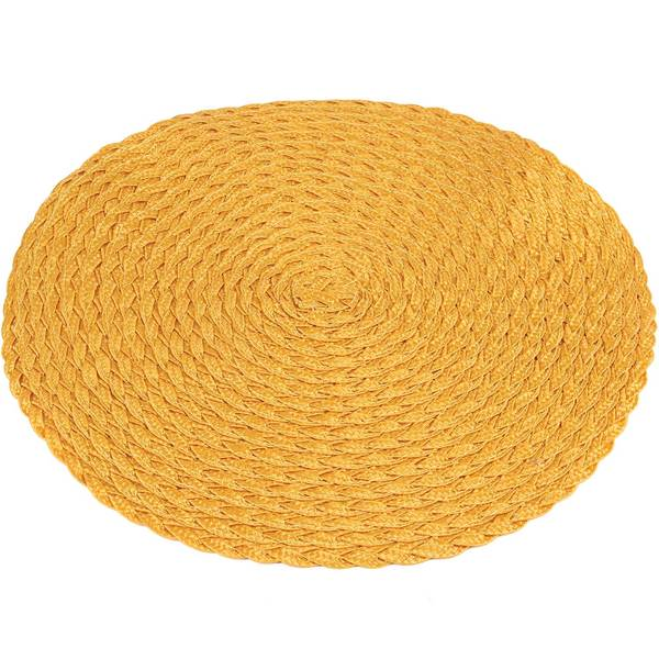 Knack3 Braided Placemat, Yellow