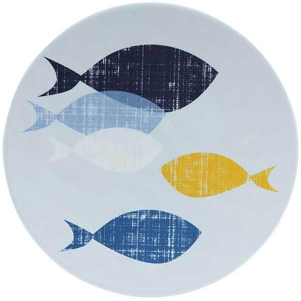 Knack3 Inc. Indigo Fish Salad Plate