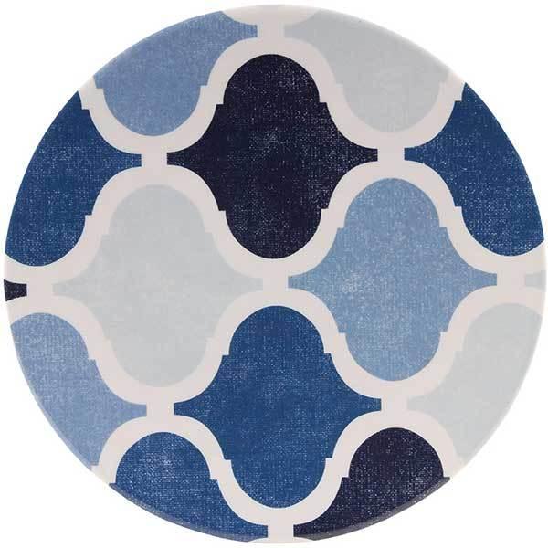 Knack3 Indigo Moroccan Dimpled Tile Salad Plate Sale $3.88 SKU: 16407975 ID# 175002 UPC# 813065007705 :