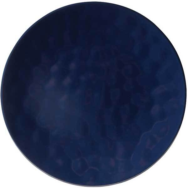 Knack3 Indigo Dark Blue Dimpled Dinner Plate