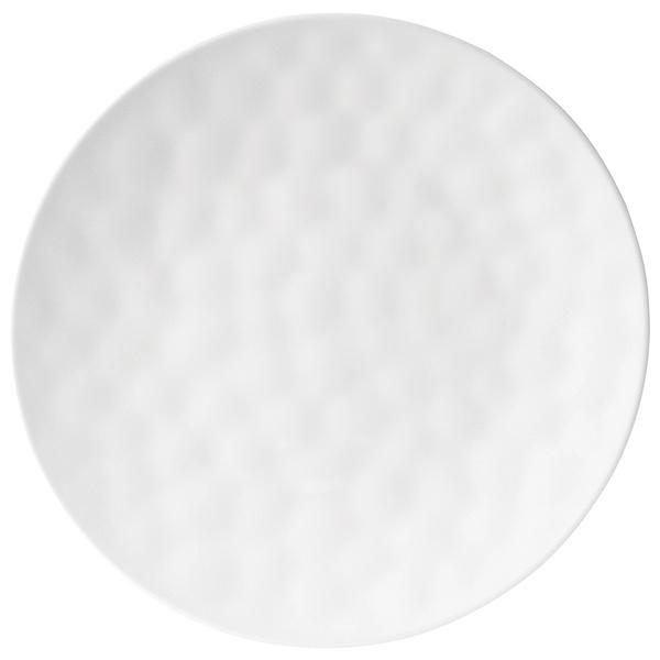 Knack3 Inc. Indigo White Dimpled Dinner Plate