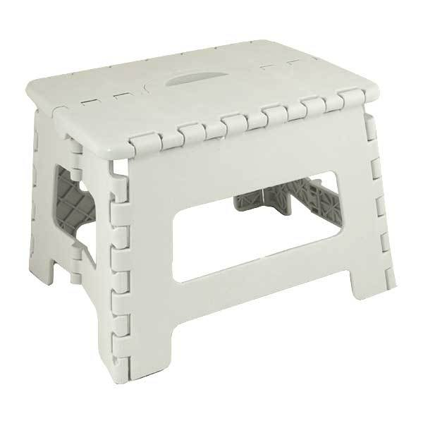 Seastow E-Z Folds Step Stool, White