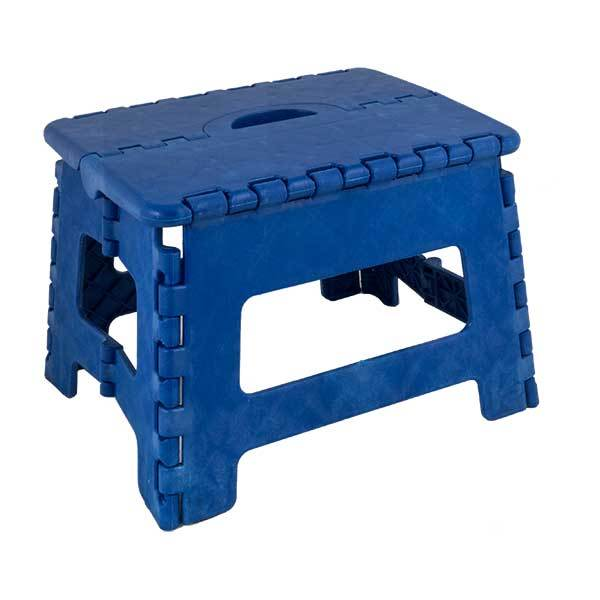 Seastow E-Z Folds Step Stool, Blue