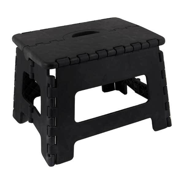 Seastow E-Z Folds Step Stool, Black