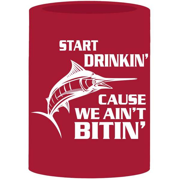 Boatmates Start Drinkin Cause We Aint Bitin Coozie