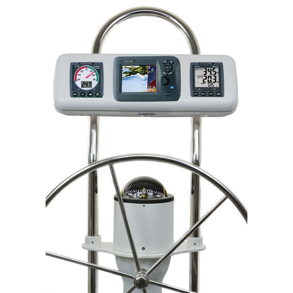 Ocean Equipment SystemPod Pre-Cut for Furuno GP-1670 / GP-1670F 5 11/16 and two instruments 3 5/8 holes for 12 wide guard Sale $369.99 SKU: 16525511 ID# GP2607 :