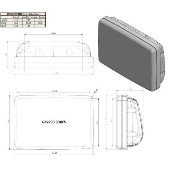 Ocean Equipment SailPod Un-Cut (usable face = 15.18w x 9.85h for 12 wide guard)