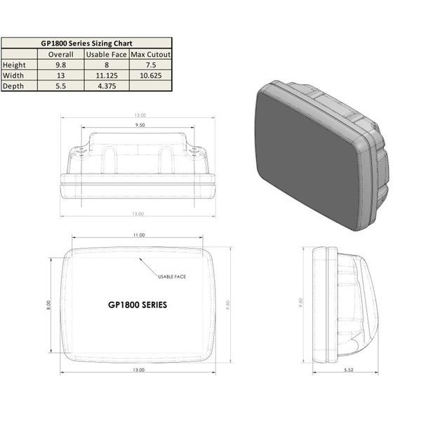 Ocean Equipment SailPod Un-Cut usable face = 11 1/8w x 8h, for 9.5 wide guard Sale $374.99 SKU: 16525800 ID# GP1800 :
