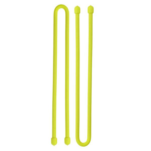 Nite Ize 12x9D Gear Tie, Neon Yellow, 2-Pack