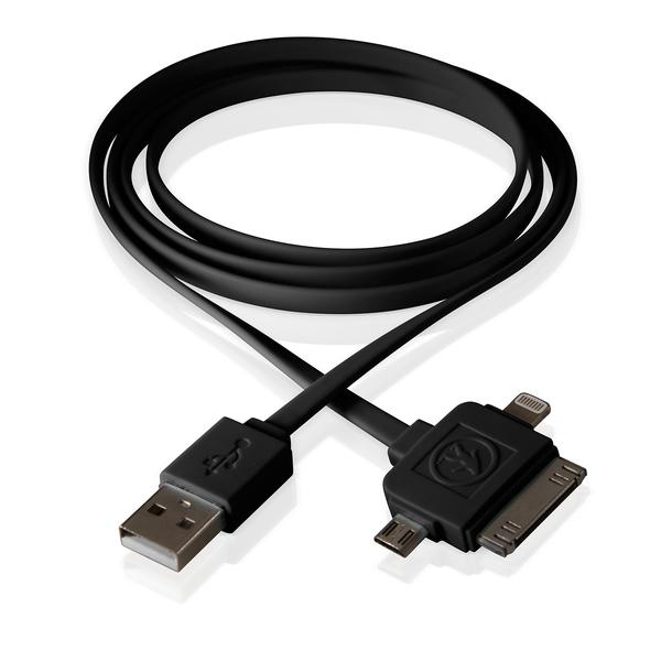 Outdoor Tech Calamari 3-in-1 USB Charging Cable, Black Sale $17.49 SKU: 16576332 ID# OT3100-B UPC# 818389011230 :
