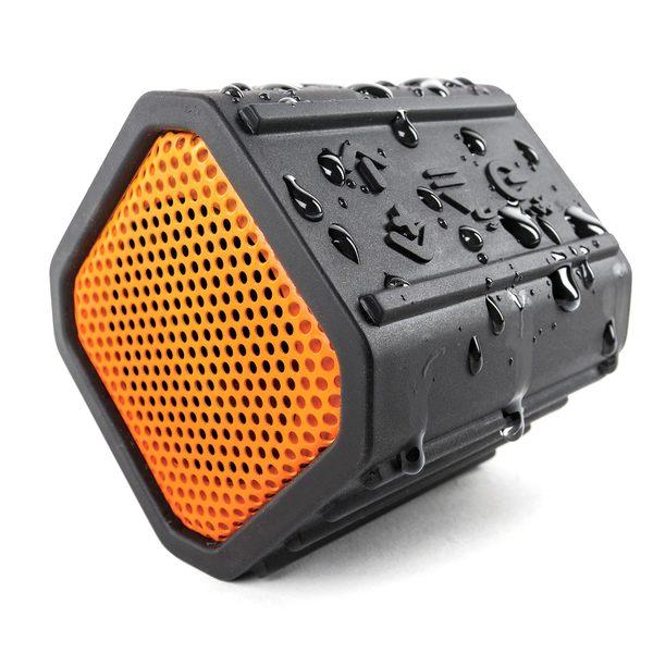 Ecoxgear ECOPEBBLE Waterproof Bluetooth Speaker—Orange