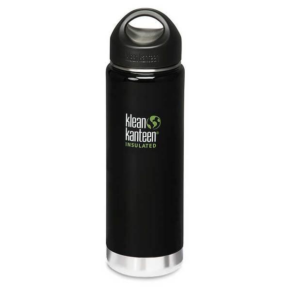 Klean Kanteen Vacum Insulated Wide Bottle, 20 oz., Black