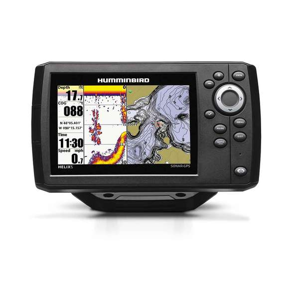 Humminbird helix 5 sonar gps chartplotter fishfinder combo for Hummingbird fish finder parts