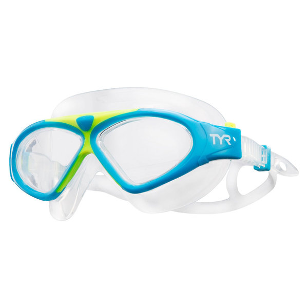 TYR Magna Mask Swim Goggle, Blue/Yellow