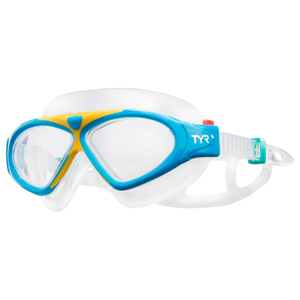 TYR Kid's Magna Mask Swim Goggle, Blue/Orange