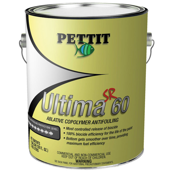Pettit Paints Ultima SR 60 Ablative Copolymer Antifouling Paint, Red, Gallon