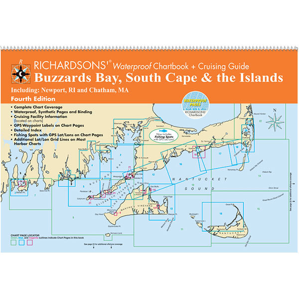 Maptech Waterproof Chartbook + Cruising Guide: Buzzards Bay, South Cape & the Islands, 4th Ed. Sale $49.95 SKU: 16628471 ID# BB4 UPC# 9780743611305 :