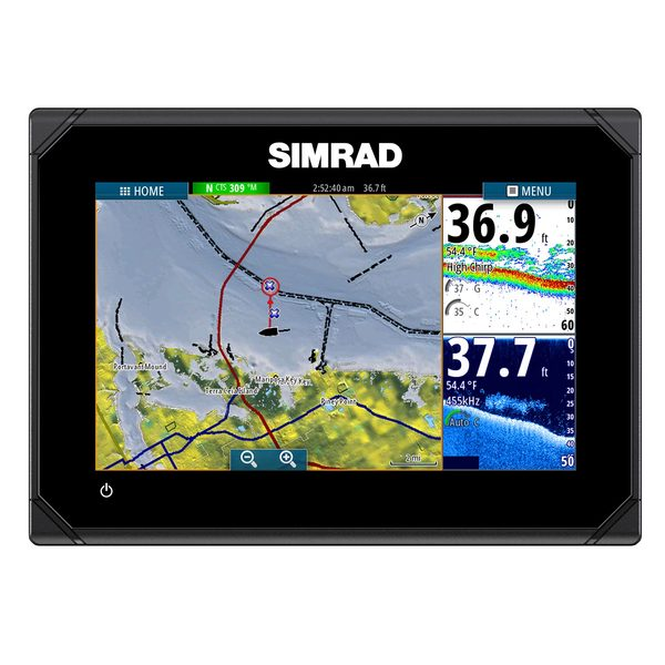 Simrad GO7 Touchscreen Chartplotter with 83/200, 455/800kHz Transducer & Navionics+ Cartography Sale $749.99 SKU: 16629560 ID# 000-12377-002 UPC# 9420024143377 :