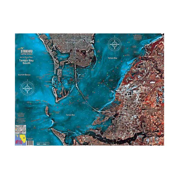 Standard Mapping Service Tampa Bay South Laminated Map